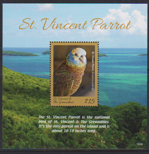 ST. VINCENT (2018)- Parrots of the Caribbean - Sheet of 4 & s.s.