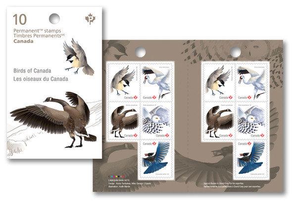 CANADA (2018) BIRDS OF CANADA BOOKLET OF 10 VALUES