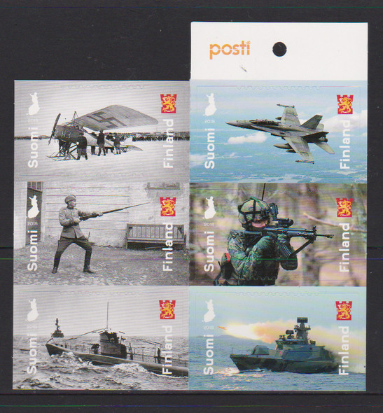FINLAND (2018) DEFENSE FORCES BOOKLET OF 6v