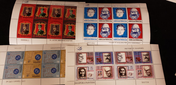 ALBANIA Sheet Collection 11 Different Full Sheets GOOD DEAL !