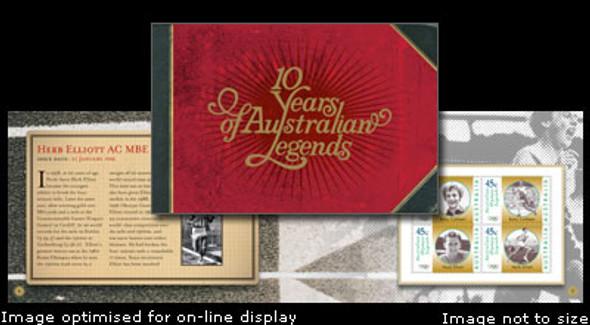 AUSTRALIA- Sport Legends- Prestige booklet