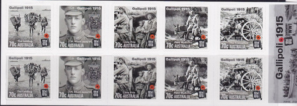 AUSTRALIA: (2015)  WWI Battle of Gallipoli Booklet