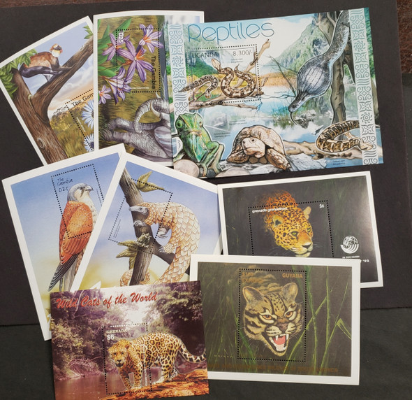 Worldwide Wild Animal Lot Of Sheets and SS 27 Items Our Orig.Retail >$90