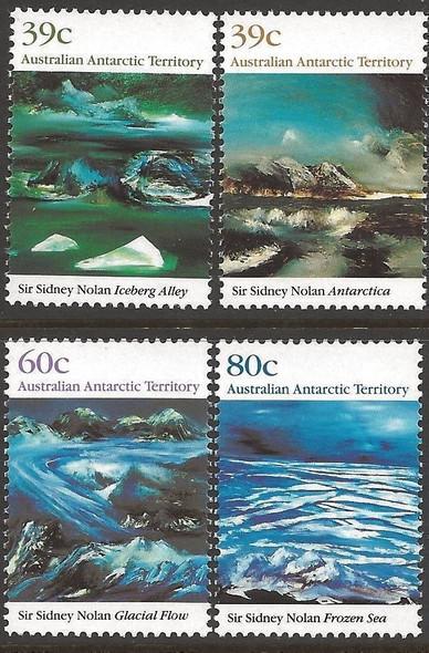AUSTRALIAN ANTARCTIC (1968)- Paintings of Sidney Noland (4v)