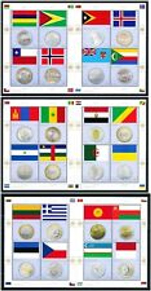 UNITED NATIONS (2013) Coin And Flag Sheet Set