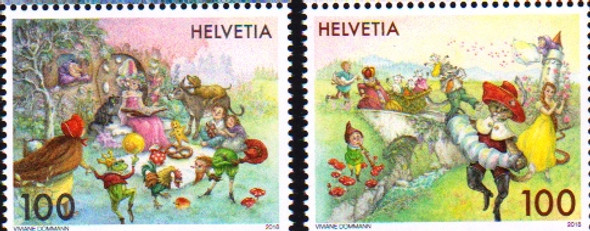SWITZERLAND (2018)- FAIRY TALES (2 VALUES)
