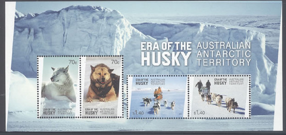 AUSTRALIAN ANTARCTIC (2015): Huskies Era- Sheet of 4- dog sleds