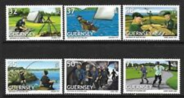 GUERNSEY (2007) Europa, Scouting (6v)