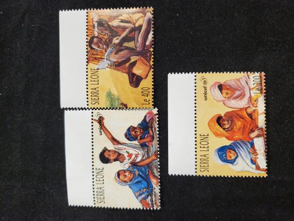 SIERRA LEONE (1996) UNICEF, Children (3v)