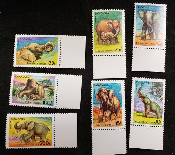 TANZANIA  (1991) Elephants (7v)
