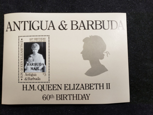 BARBUDA  (1986) Queen Elizabeth 60th BDAY SS