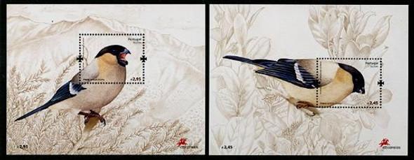 AZORES (2008) - Bullfinch Bird souvenir sheets  (2)