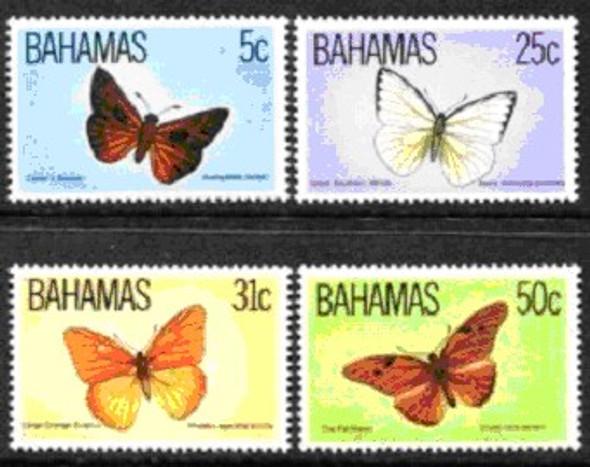 BAHAMAS (1983)- LOCAL BUTTERFLIES (4 VALUES) & SHEET