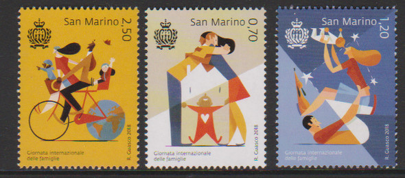 SAN MARINO (2018)- DAY OF THE FAMILY (3v)- BABIES, BICYCLES, ETC.