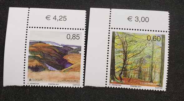 LUXEMBOURG (2011) EUROPA, YEAR OF FOREST (2v)