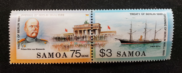 SAMOA (1990) OPENING BERLIN WALL, Continuous Design (2v)