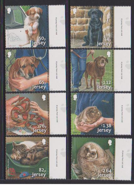 JERSEY (2018)- SPCA ANNIVERSARY- DOGS, BIRD, ETC. (8v)