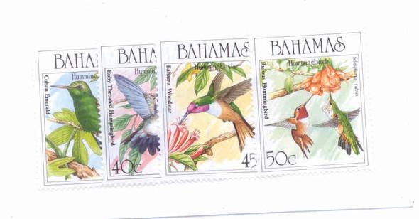 BAHAMAS- BIRDS- 4 values