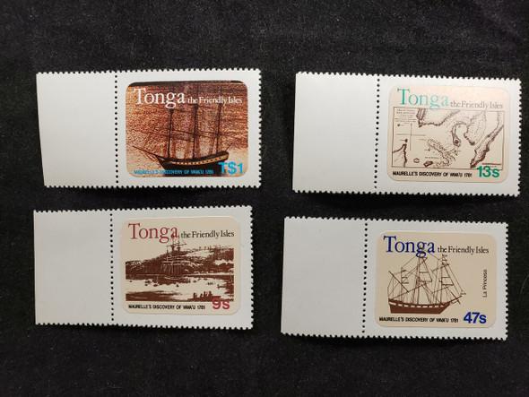 TONGA (1981) Bicentenary Discovery of Vavau,Maurelle (4v)