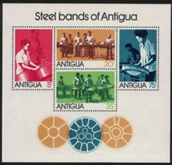 BARBUDA (1974) Steel Bands of Antigua Sheet