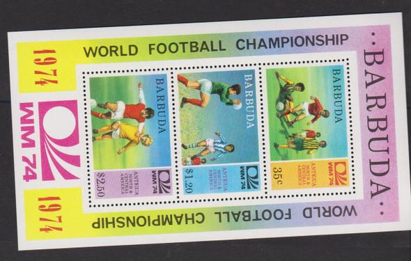 BARBUDA (1974) WORLD CUP Soccer Sheet