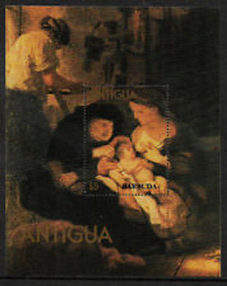BARBUDA (1980) Christmas ART SS Sheet