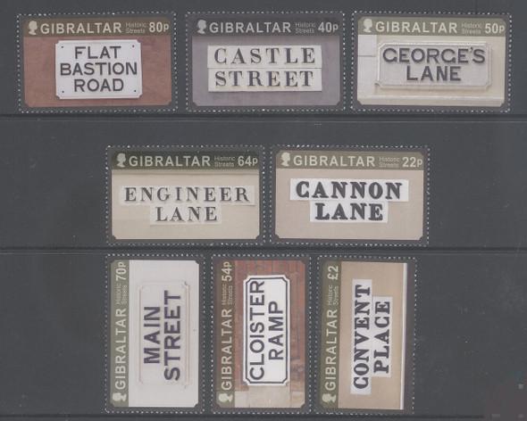 GIBRALTAR (2017)- HISTORIC STREET SIGNS (8v)