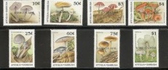 BARBUDA (1990): Mushrooms- 8v-SCV=$75.70!