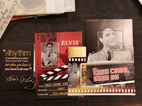 GAMBIA  (2012)Elvis Presley,Easy Come,Easy Go, 4 SS Set LAST ONE
