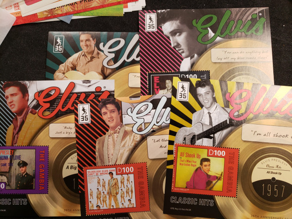 GAMBIA (2013)Elvis  Presley Classis Hits 5 Sheet Set LAST ONE