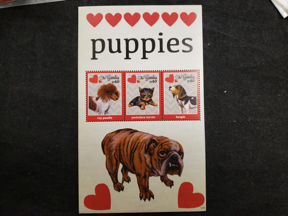 GAMBIA  (2012) Puppy Dog , Hearts Sheet