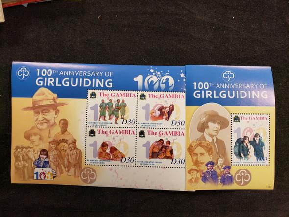 GAMBIA (2011) Girl Guide Centenary Sheet & SS