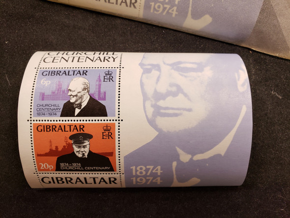 GIBRALTAR (1974) CHURCHILL CENTENARY SS