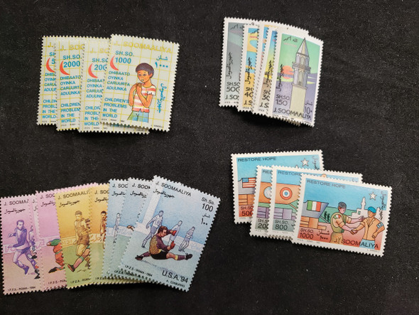 SOMALIA COLLECTION 48 Sets 1990-2000's Lots of Topicals