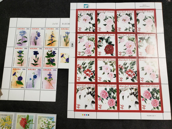 FLORA ,Flowers Collection,Various Countries, Sheets,Sets Our Original Retail $158