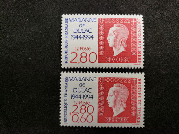 FRANCE (1994) Stamp Day ,MARIANNE (2v)