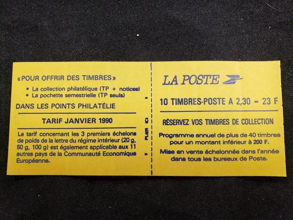 FRANCE (1993) MARIANNE  Booklet Pane sc2203a  SA