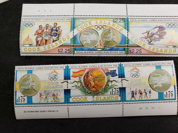 COOK ISLAND (1990) Sports Barcelona Olympics Strip (2)