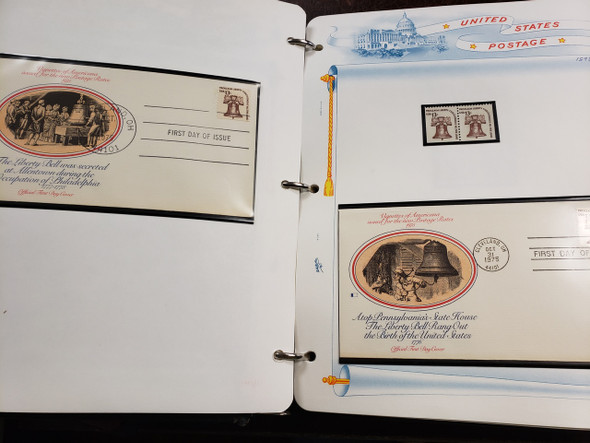 UNITED STATES Stamp +FDC Collection AMERICANA ISSUE -Plate Blocks to $5 Plus Coils And Other Issues