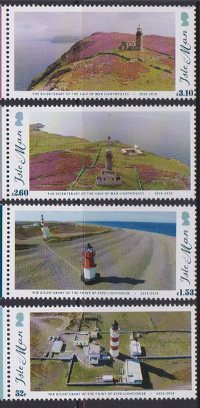 ISLE OF MAN (2018)- LIGHTHOUSE BICENTENARY (4v)