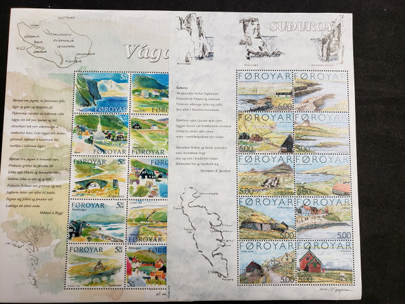 FAROE 5 Sheet Lot Art, Poetry, Villages LAST ONE