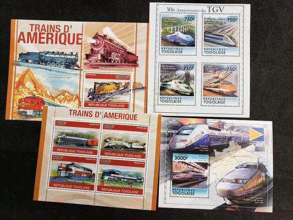 TOGO Trains 4 Sheets LAST ONES