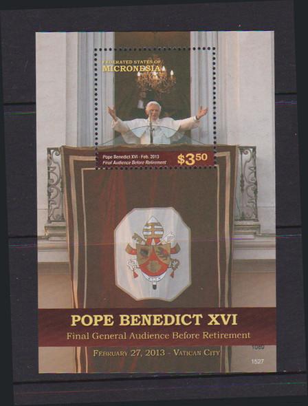 MICRONESIA (2017)- POPE BENEDICT SHEET OF 6 & SOUVENIR SHEET