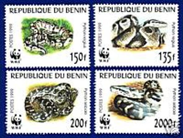 BENIN (1999) - WWF - Reptiles (Snakes) STRIP (4)