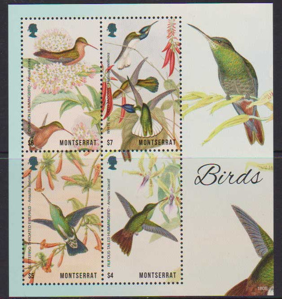 MONTSERRAT (2018)- BIRDS & FLOWER SHEETS (2)
