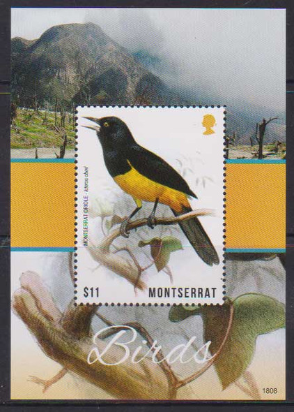 MONTSERRAT (2018)- BIRDS & FLOWER SHEETS (2)