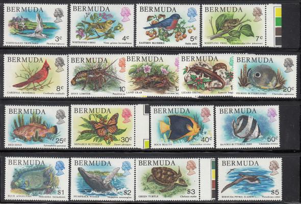 BERMUDA (1979)- FLORA/FAUNA DEFINITIVES OF 1979- 17v! SCV=$39!