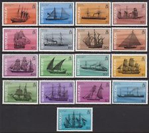 BERMUDA (1986)- SHIP DEFINITIVES (17 VALUES)-SCV>$71!