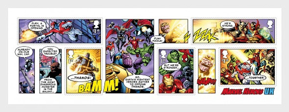 GR. BRITAIN (2019)- Marvel Comics Souvenir Sheet