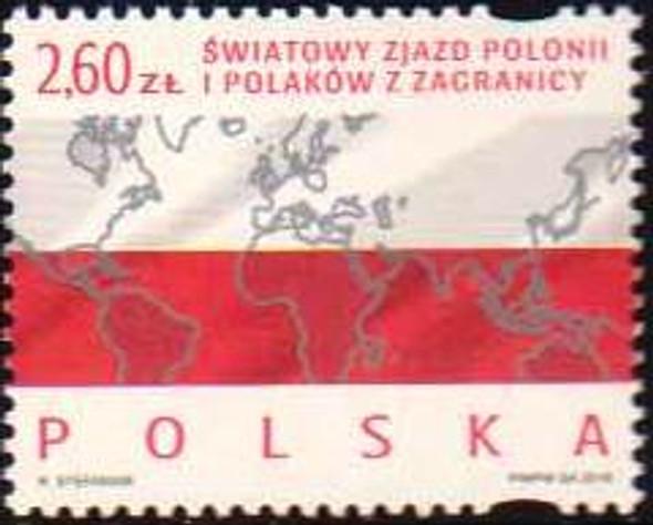 POLAND (2018)- POLISH DIASPORA (MAP)